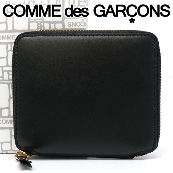 【1月17日再入荷■ご予約】 コムデギャルソン 二つ折り財布 COMME des GARCONS コンパクト財布 レディース メンズ ブラック SA2100 ARECALF BLACK 【送料無料】【着後レビューを書いて500円クーポン】