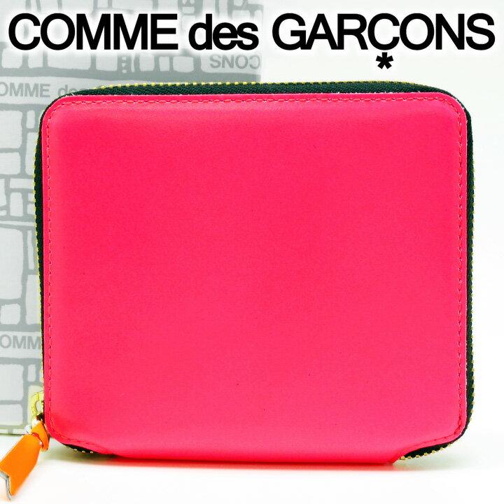 コムデギャルソン 二つ折り財布 COMME des GARCONS コンパクト財布 レディース ネオンピンク SA2100SF PINK 【あす楽】【送料無料】【着後レビューを書いて500円クーポン】