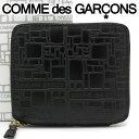 コムデギャルソン 二つ折り財布 COMME des GARCONS コンパクト財布 レディース メンズ ブラック SA2100EL EMBOSSED LOGOTYPE BLACK 【…
