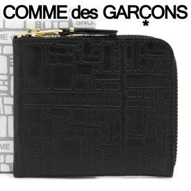 コムデギャルソン ミニ財布 コンパクト コインケース COMME des GARCONS レディース メンズ ブラック SA3100EL EMBOSSED LOGOTYPE BLACK 【お取り寄せ】【着後レビューを書いて500円クーポン】