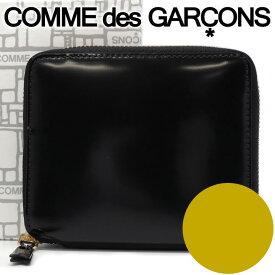 コムデギャルソン 二つ折り財布 COMME des GARCONS コンパクト財布 レディース メンズ ブラック×ゴールド SA2100MI MIRROR INSIDE GOLD 【あす楽】【送料無料】