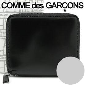 コムデギャルソン 二つ折り財布 COMME des GARCONS コンパクト財布 レディース メンズ ブラック×シルバー SA2100MI MILLOR INSIDE SILVER 【あす楽】【送料無料】【着後レビューを書いて500円クーポン】