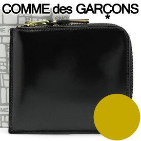 コムデギャルソン ミニ財布 コンパクト コインケース COMME des GARCONS メンズ レディース ブラック×ゴールド SA3100MI MIRROR INSIDE GOLD 【あす楽】【送料無料】