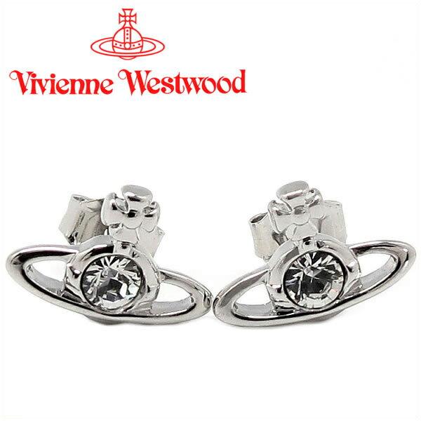 ヴィヴィアンウエストウッド ピアス Vivienne Westwood ヴィヴィアン ナノソリティアピアス シルバー 724497B/1 【お取り寄せ】【送料無料】