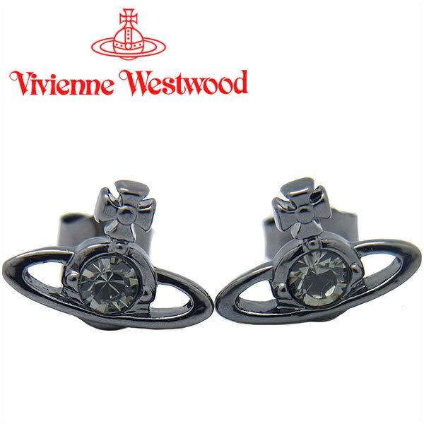 ヴィヴィアンウエストウッド ピアス Vivienne Westwood ヴィヴィアン レディース メンズ ナノソリティアピアス ガンメタル(旧タイプ) 【あす楽】【送料無料】