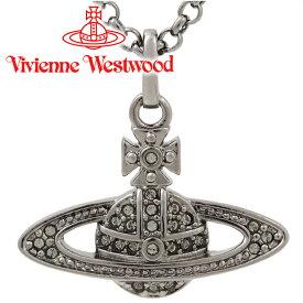 ヴィヴィアンウエストウッド ネックレス Vivienne Westwood ヴィヴィアン ミニバスレリーフネックレス ガンメタル 63020086-S108(752107B/4) 【あす楽】【送料無料】