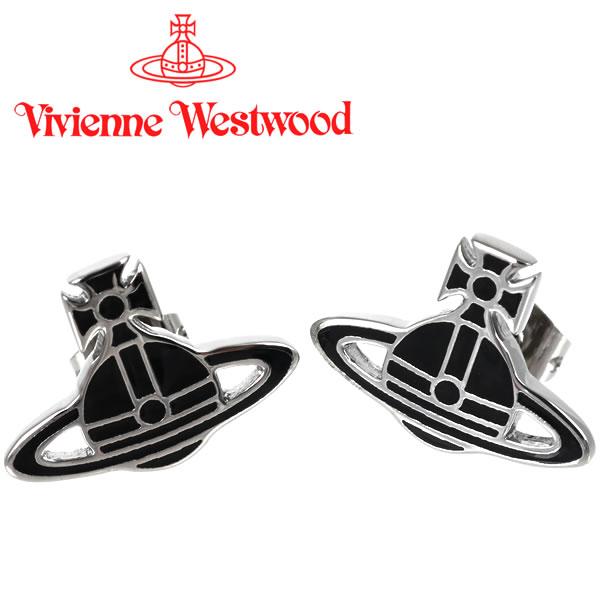 ヴィヴィアンウエストウッド ピアス Vivienne Westwood ヴィヴィアン ケイトピアス ブラック×シルバー 【お取り寄せ】【送料無料】