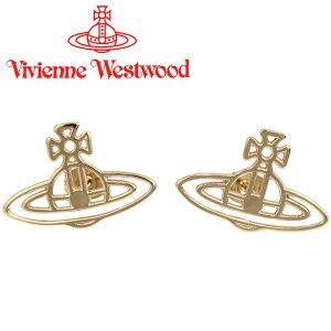 ヴィヴィアンウエストウッド ピアス Vivienne Westwood ヴィヴィアン レディース メンズ シンラインフラットオーブピアス ゴールド 62010208-R001 【あす楽】【送料無料】