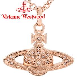 ヴィヴィアンウエストウッド ネックレス Vivienne Westwood ヴィヴィアン レディース ミニバスレリーフペンダント ピンクゴールド 63020086-G120(752107B/3) 【あす楽】【送料無料】