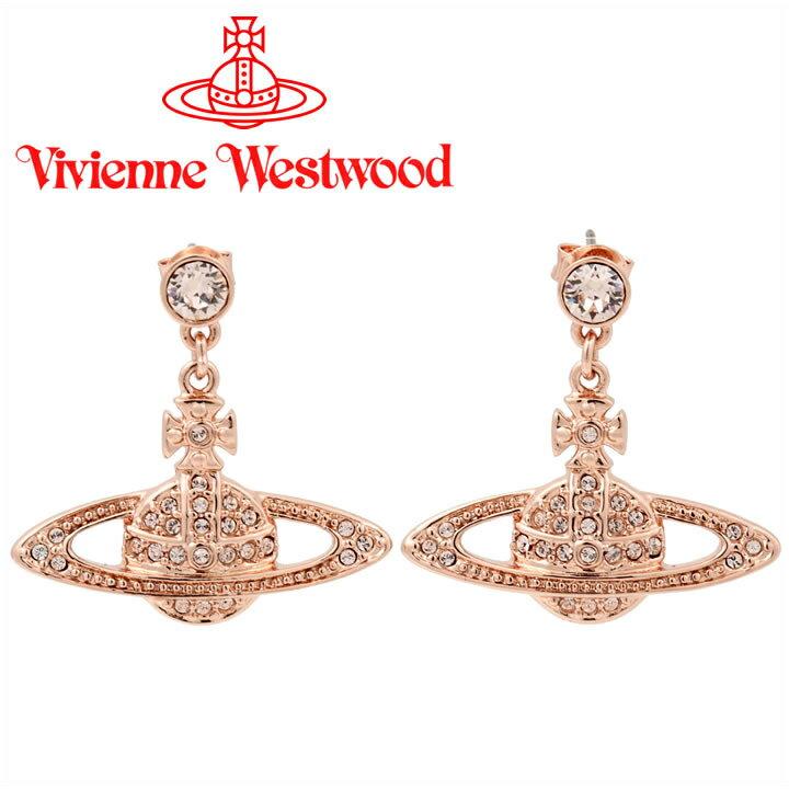 ヴィヴィアンウエストウッド ピアス Vivienne Westwood ヴィヴィアン ミニバスレリーフドロップピアス ピンクゴールド 724536B/3 【お取り寄せ】【送料無料】