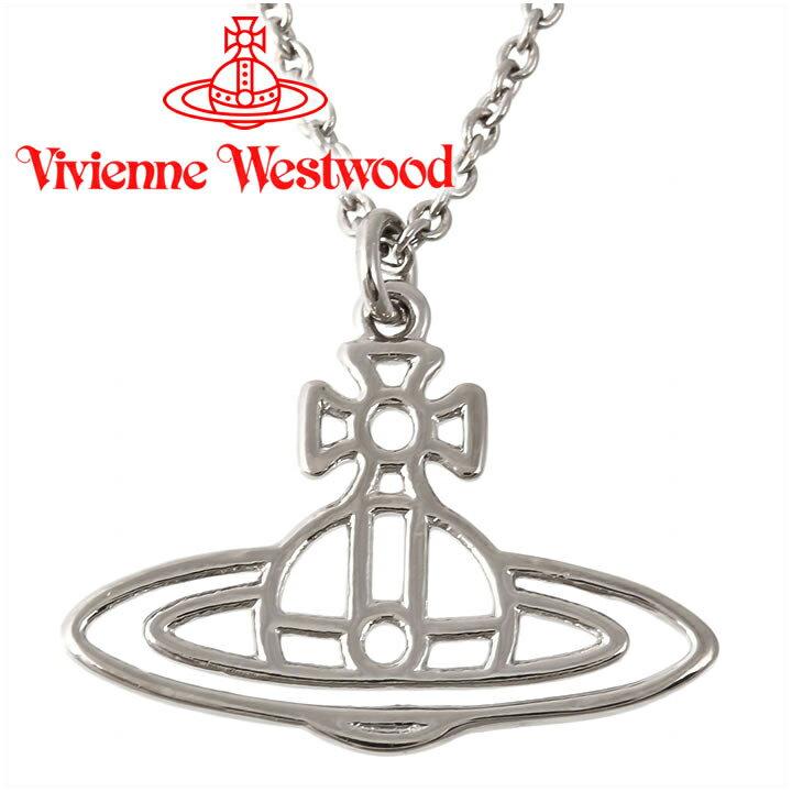 ヴィヴィアンウエストウッド ネックレス Vivienne Westwood ヴィヴィアン シンラインショートフラットオーブペンダント シルバー BP1284/2 【あす楽】【送料無料】
