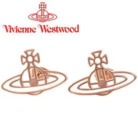 ヴィヴィアンウエストウッド ピアス Vivienne Westwood ヴィヴィアン シンラインフラットオーブピアス ピンクゴールド BE157/4 【あす楽】