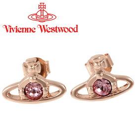 ヴィヴィアンウエストウッド ピアス Vivienne Westwood ヴィヴィアン ナノソリティアピアス ピンクゴールド×ローズ 724497B/4(新タイプ) 【あす楽】【送料無料】
