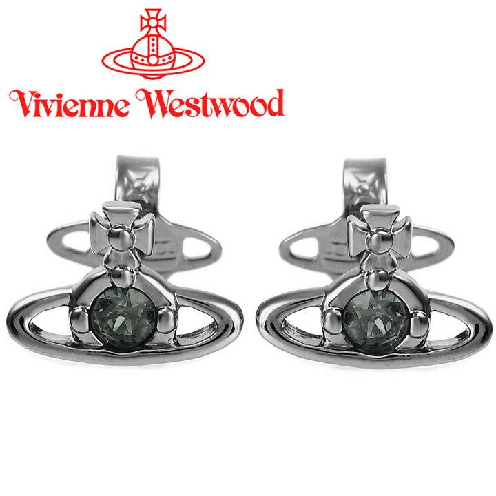 ヴィヴィアンウエストウッド ピアス Vivienne Westwood ヴィヴィアン レディース メンズ ナノソリティアピアス ガンメタル(新タイプ) 724497B/3 【あす楽】【送料無料】