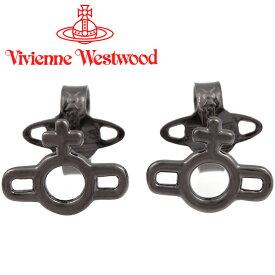 ヴィヴィアンウエストウッド ピアス メンズ レディース Vivienne Westwood ヴィヴィアン マグナスオーブピアス ガンメタル BE1611/4 【あす楽】