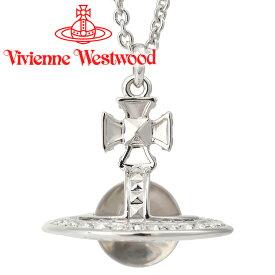 ヴィヴィアンウエストウッド ネックレス メンズ レディース Vivienne Westwood ヴィヴィアン ピニャスモールオーブペンダント シルバー 63020113-W110 【あす楽】【送料無料】
