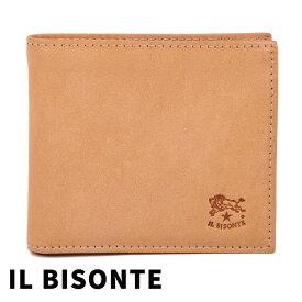 イルビゾンテ 財布 二つ折り財布 メンズ IL BISONTE 本革 ヌメ(ナチュラル) C0487 120 【あす楽】【送料無料】