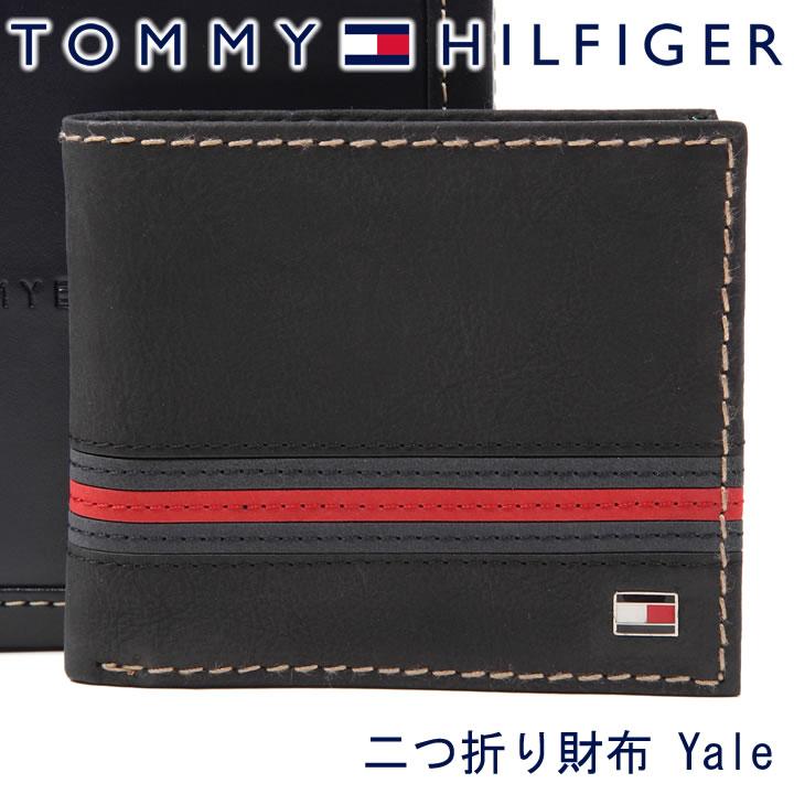 トミーヒルフィガー 二つ折り財布 TOMMY HILFIGER 財布 メンズ ブラック 31TL25X007 BLACK 【あす楽】