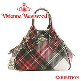 ヴィヴィアンウエストウッド Vivienne Westwood バッグ ハンドバッグ ショルダーバッグ チェック柄 45030001 DERBY EXHIBITION 【あす楽】【送料無料】