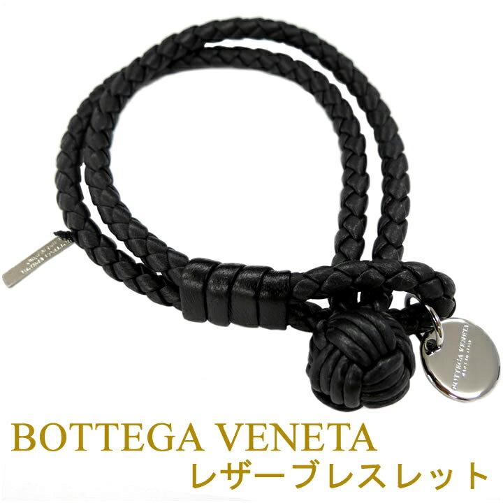 ボッテガ ブレスレット ボッテガヴェネタ 2連ブレスレット BOTTEGA VENETA ブラック 113546-V001D-1000 【お取り寄せ】