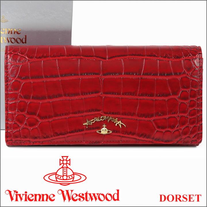ヴィヴィアンウエストウッド 財布 ヴィヴィアン Vivienne Westwood 長財布 レッド 1032V DORSET RED 【あす楽】