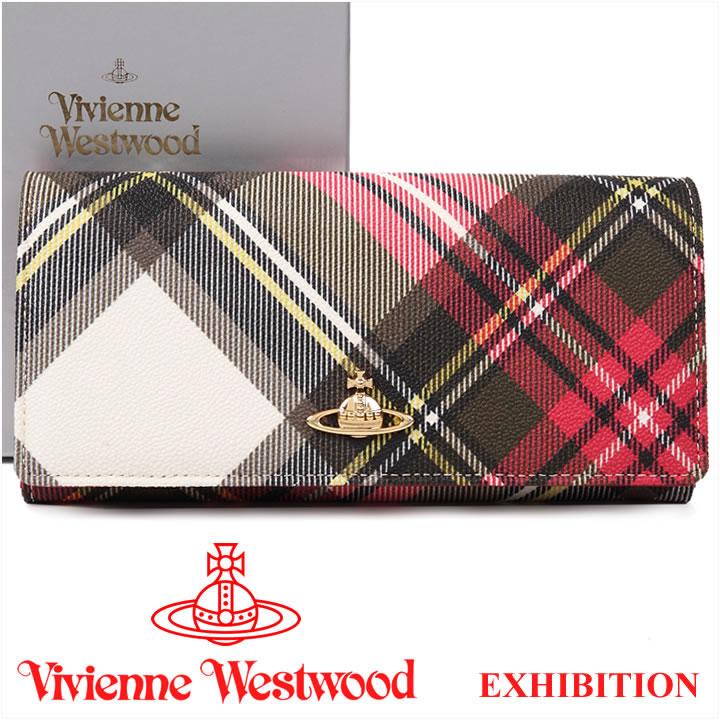 ヴィヴィアンウエストウッド 財布 ヴィヴィアン Vivienne Westwood 長財布 レディース メンズ チェック 2800V EXHIBITION 17SS 【あす楽】【送料無料】【春財布 福財布】