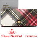 ヴィヴィアンウエストウッド 財布 ヴィヴィアン Vivienne Westwood 長財布 レディース メンズ チェック 2800V EXHIBITION 17SS 【あす…