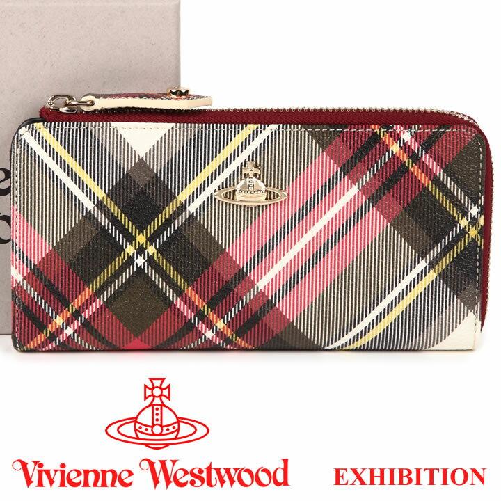 ヴィヴィアンウエストウッド 財布 ヴィヴィアン Vivienne Westwood L字ファスナー長財布 レディース メンズ チェック 10042V DERBY EXHIBITION 17AW 【送料無料】【あす楽】【春財布 福財布】