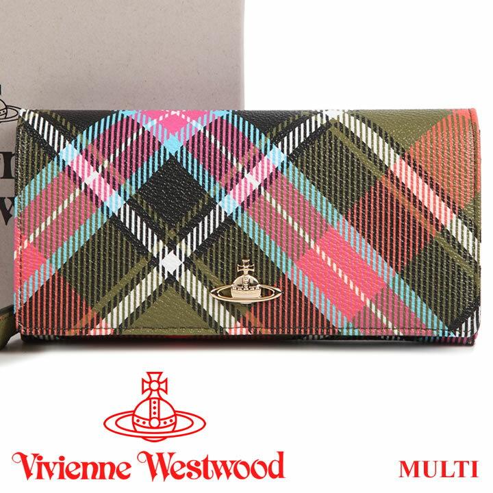 ヴィヴィアンウエストウッド 財布 ヴィヴィアン Vivienne Westwood 長財布 レディース メンズ チェック 1032V DERBY MULTI 17AW 【送料無料】【あす楽】【春財布 福財布】