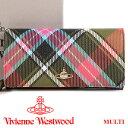 ヴィヴィアンウエストウッド 財布 ヴィヴィアン Vivienne Westwood 長財布 レディース メンズ チェック 1032V DERBY MULTI 17AW 【送料…