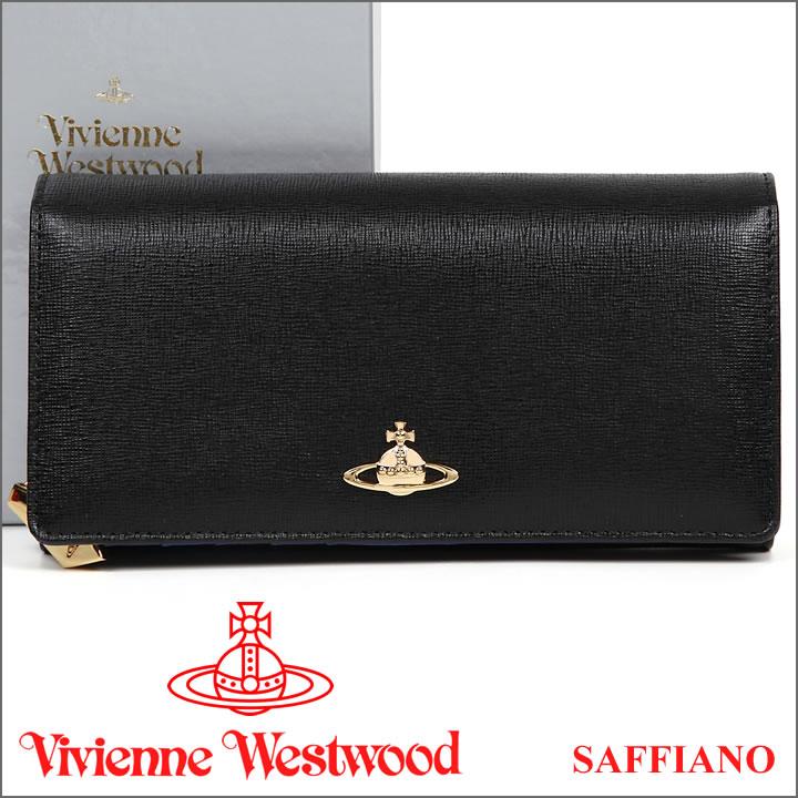 ヴィヴィアンウエストウッド 財布 ヴィヴィアン Vivienne Westwood 長財布 レディース メンズ ブラック 1032V SAFFIANO BLACK 【送料無料】【あす楽】【春財布 福財布】