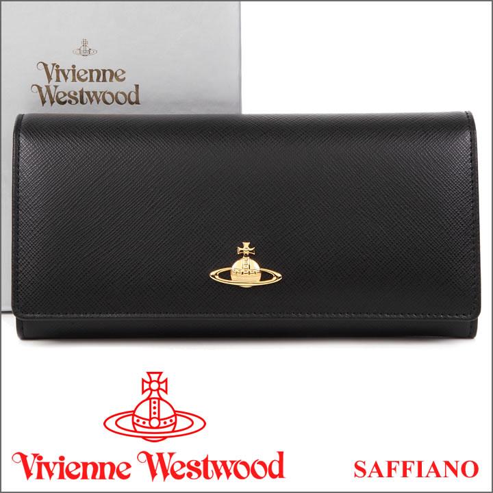 ヴィヴィアンウエストウッド 財布 ヴィヴィアン Vivienne Westwood 長財布 レディース メンズ ブラック 2800V SAFFIANO BLACK 【送料無料】【あす楽】【春財布 福財布】
