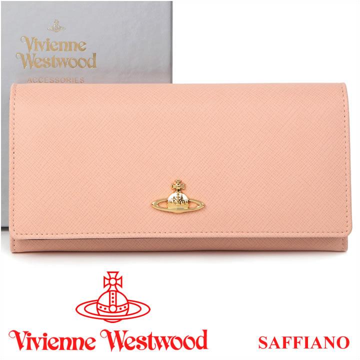 ヴィヴィアンウエストウッド 財布 ヴィヴィアン Vivienne Westwood 長財布 レディース ライトピンク 2800V SAFFIANO PINK 【送料無料】【あす楽】
