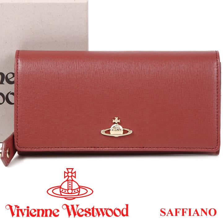 ヴィヴィアンウエストウッド 財布 ヴィヴィアン Vivienne Westwood 長財布 レディース レンガ色 1032V SAFFIANO PINK 17AW 【送料無料】【あす楽】【春財布 福財布】