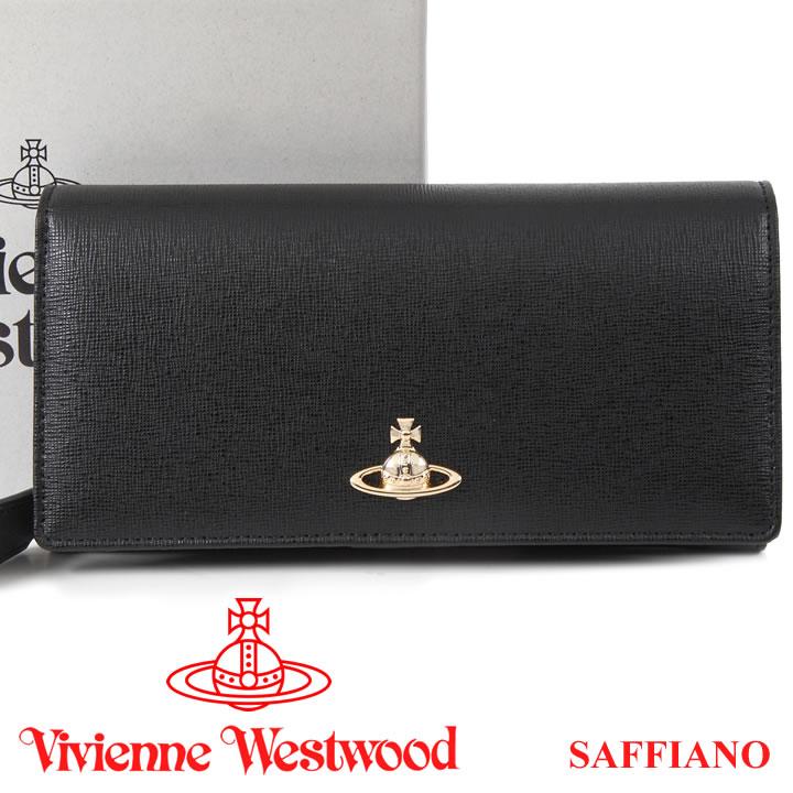 ヴィヴィアンウエストウッド 財布 ヴィヴィアン Vivienne Westwood 長財布 メンズ レディース ブラック 51060025 SAFFIANO BLACK 18SS 【あす楽】【送料無料】