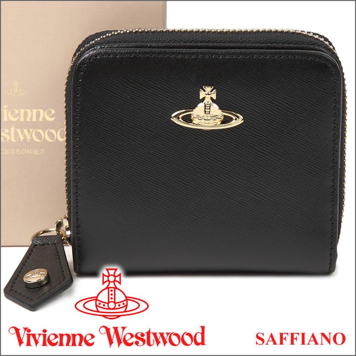 ヴィヴィアンウエストウッド 財布 ヴィヴィアン Vivienne Westwood レディース メンズ 二つ折り財布 ブラック 321408 OPIO SAFFIANO BLACK 【送料無料】【あす楽】【クリスマス プレゼント】