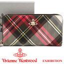 ヴィヴィアンウエストウッド 財布 ヴィヴィアン Vivienne Westwood ラウンドファスナー長財布 レディース メンズ チェック 51050023 EX…