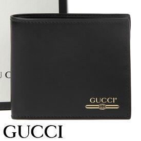グッチ 財布 GUCCI 二つ折り財布 ヴィンテージロゴ メンズ ブラック 547586-0YA0G-1000 【あす楽】【送料無料】
