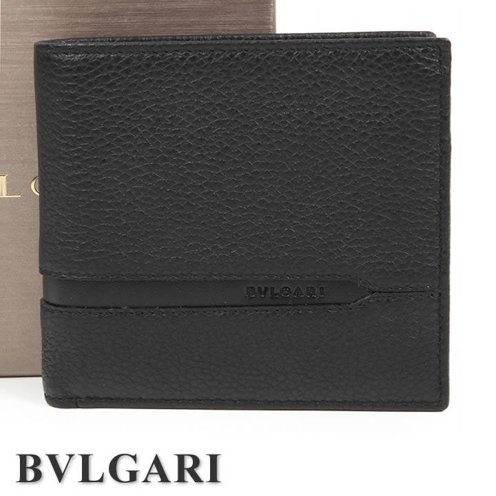 ブルガリ 二つ折り財布 BVLGARI 財布 オクト メンズ ブラック 36964 【送料無料】【あす楽】【クリスマス プレゼント】
