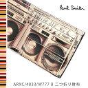 ポールスミス 財布 Paul Smith 二つ折り財布 メンズ ブラック ラジカセ ARXC/4833/W777 B 【送料無料】【02P03Dec16】