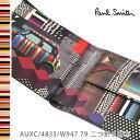 ポールスミス 財布 Paul Smith 二つ折り財布 メンズ ブラック ミニクーパー ジオメトリックプリント AUXC/4833/W947 79 【並行輸入品】