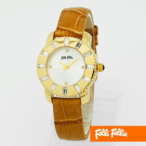 【フォリフォリ】フォリフォリ 時計 Folli Follie 腕時計 時計 folli follie 腕時計 WF5G115SPSSC ゴールド ジルコニア レディーズ アナログ 【送料無料】 【02P03Dec16】 【RCP】 【_腕時計】