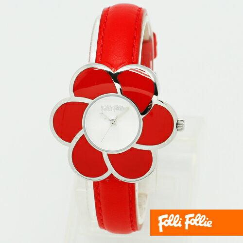 【フォリフォリ】フォリフォリ 時計 Folli Follie 腕時計 時計 folli follie 腕時計 WF5T079SPR レッド レディーズ アナログ 【在庫あり】【送料無料】 【02P03Dec16】 【RCP】 【_腕時計】