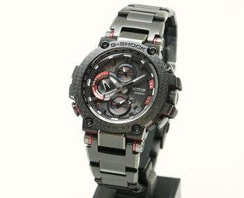 カシオGショックMT-G電波ソーラースマートフォンリンクブラック&レッドカーボンベゼルMTG-B1000XBD-1AJFCASIOG-SHOCKタフソーラー電波時計Bluetooth搭載レイヤーコンポジットバンド黒赤メンズ腕時計