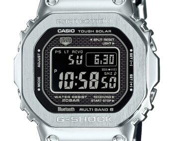 カシオGショックオリジン電波ソーラースマートフォンリンクウレタンバンドGMW-B5000-1JFCASIOG-SHOCKORIGINBluetooth搭載電波時計フルメタルシルバーケーススクリューバック銀色メンズ腕時計