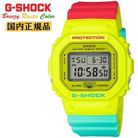 カシオ Gショック ORIGIN ブリージー・ラスタカラー イエロー&レッド&グリーン DW-5600CMA-9JF CASIO G-SHOCK オリジン Breezy Rasta Color デジタル 黄色 赤 緑 メンズ 腕時計 【あす楽】