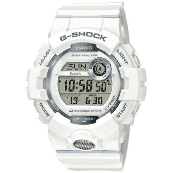 カシオGショックジー・スクワッドスマートフォンリンクホワイトGBD-800-7JFCASIOG-SHOCKG-SQUADBluetooth搭載デジタル白メンズ腕時計