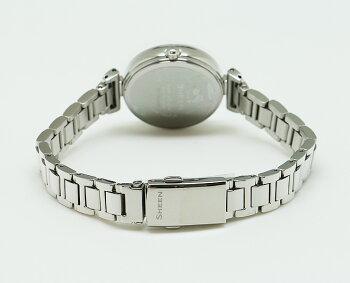 カシオシーンソーラーブルーグラデーションフェイスSHS-4502D-2AJFCASIOSHEENアナログスワロフスキーエレメント青レディスレディース腕時計