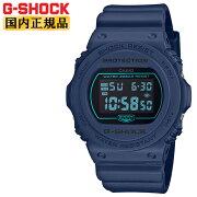 カシオGショックスティングネイビーDW-5700BBM-2JFCASIOG-SHOCKデジタル紺メンズ腕時計