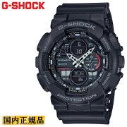 カシオGショックブラックGA-140-1A1JFCASIOG-SHOCKデジタル&アナログコンビネーションモデルメンズ腕時計